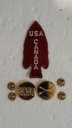 Repro Ww2 Us Army 1 First Special Service Forces Fssf Usa Canada Patch Pin Set