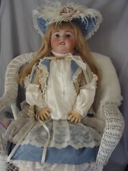 Large Antique German Doll, 32 Simon And Halbig 1078, Ball Jointed Compo Body