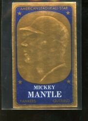 1965 Topps Embossed 11 Mickey Mantle Yankees Ex+ E012882