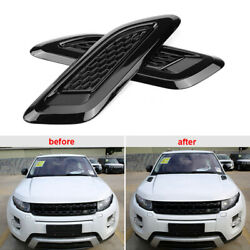 For Land Rover Range Rover Evoque Black Hood Air Vent Outlet Trim Cover 2012-18
