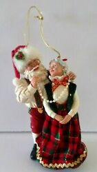 Possible Dreams P. D. Santa Helping Mrs.claus With A Necklace Christmas Ornament