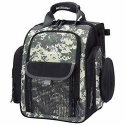 Fp04 Fishing Tackle Backpack Water Resistant Bag Jungle Camo Without Trays