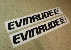 Evinrude Vintage Outboard Motor Decals 12 Black Free Ship + Free Fish Decal