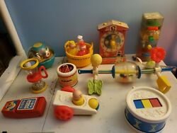 Lot Of Vintage 10 Little Tikes And Fisher Price Toys From The 70s/80s