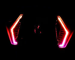 Polaris Rzr Xp 1000 And Turbo S - Led Multicolor Chase Fang Lights Bluetooth