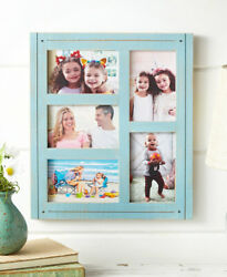 Distressed Wall Collage Photo Picture Frame Farmhouse Home Decor - Blue