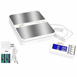 Weighmax 130lb X0.1oz Extended Display Digital Shipping Postal Scale, White