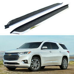 Side Step Nerf Bars Running Boards Fits For Cherolet Chevy Traverse 2018-2021