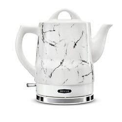 Bella 1.5 Liter Electric Ceramic Tea Kettle With Boil Dry Protection And Deta…
