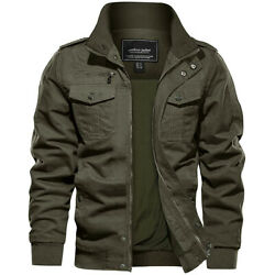 Menand039s Military Tactical Bomber Jacket Army Cargo Combat Casual Cotton Work Coats