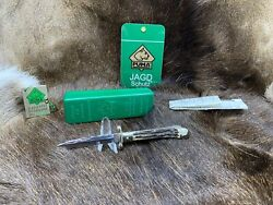 1989 Vintage 563 Medici Knife With Stag Handles With Tag - Mint In Box A