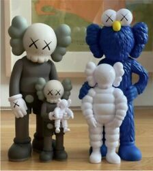Kaws Family Set Brown/blue On Hand Order W/ Insurance And Sign Fast Ship