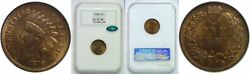 1878 Indian Head Cent Ngc Ms-65 Rb Cac