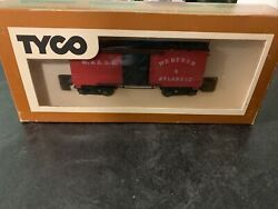 Ho Scale Tyco 1860 Box Car Western And Atlantic Railroad Red 317a400