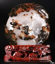 9.5 Carnelian Carved Crystal Frogs, Crystal Healing 008