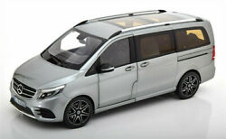 Norev 1/18 Benz Viano Mpv Metal Diecast Model Car Gift Collection Display Silver
