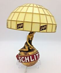 Vintage Schlitz On Draught Beer Wall Sconce 12 Lamp, Works, Free Shipping
