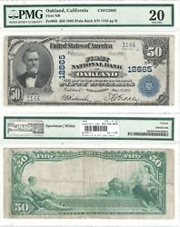1902 50 First National Bank In Oakland Ca 12665 Pmg Very Fine-20