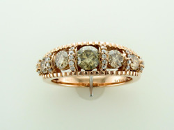 Levian Statement Ring Chocolate And White Diamond In 14k Rose Gold 1 1/3cts