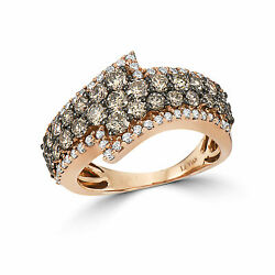 Levian Ring Band Chocolate And White Diamond In 14k Rose Gold 1 1/2cts