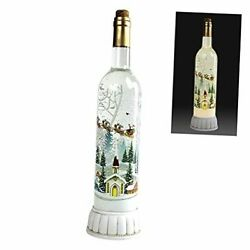 Christmas Snow Globes Musical Wine Bottle Battery Or Usb Operated Santa Claus
