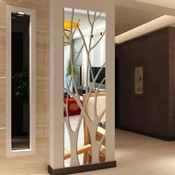 3D Mirror Tree Wall Sticker Art Home Room Decor Removable Decal Acrylic Mural