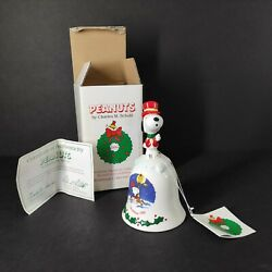 Vintage Snoopy Christmas Bell Willitts 1988 Pottery. Limited Edition With Box.