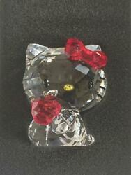 Hello Kitty With Apple Crystal Figurine Sanrio Glittering With Box