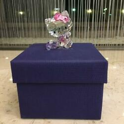 Hello Kitty With Trunk Crystal Figurine Sanrio Glittering With Box