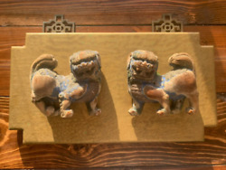 Antique Chinese Foo Dog Wall Hanging