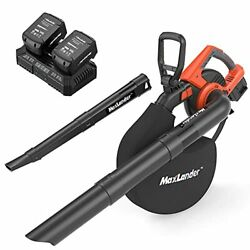2 In 1 With Bag, 40v 170mph 330cfm Electric Cordless Leaf Blower And Vacuum