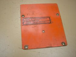 Case Ingersoll 446 Garden Tractor Dash Tower Cover Plate