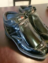 Vtg 1970and039s Davis Motorcycle Boot Engineer Black Leather W/ Goodyear Welt