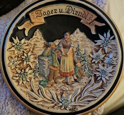 Vintage Viewing Plate From Germany. Engraved On Back 2534 Germany.