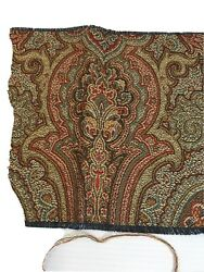PAISLEY DESIGNED RICH COLORED UPHOLSTERY TAPESTRY FABRIC REMNANTS .2 PIECES