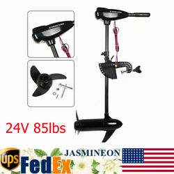 24v 85lbs Electric Outboard Motor Brush Trolling Motor Inflatable Fishing Boat