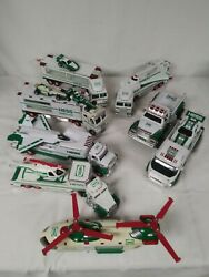 Vintage Hess Lot Of 15 - Tractor Trucks, Cars, And Helicopters - 1995 To 2011