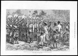 1879 The Zulu War - 91st Regiment At Camp Durban Heading For The Front 150
