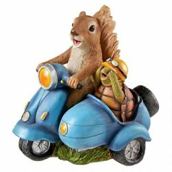 Katlot Born To Be Wild Squirrel On Motorcycle Statue
