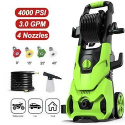 4000psi/3.0gpm Electric Pressure Washer 1800w. High Power Cleaner Water Sprayer
