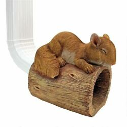 Katlot Jolly The Squirrel Gutter Guardian Downspout Statue