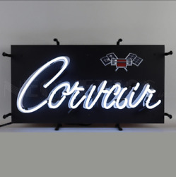 Chevy Corvair Neon Sign Chevrolet Corvair Signs Garage Signs For Men Chevy Signs