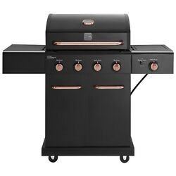 Bbq Grill 4 Burner Propane Gas Cooking 12000 Btus Patio Cook Backyard Grilling