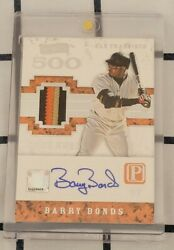 2016 Pantheon Barry Bonds 1/1 Game Used Patch Auto Rare Giants