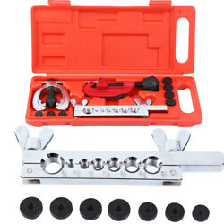 7 Dies Double Flaring Tool Kit Tubing Bender And Pipe Cutter Brake Line Copper New