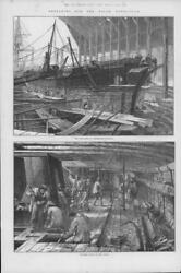 1875 Antique Print Hampshire Portsmouth Dockyard Discovery Polar Expedition 204