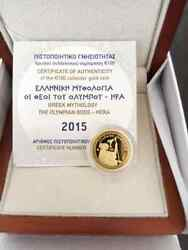 Gold Coin, Greece, 2015, Proof, Hera, Queen Of The Gods, 100 Euro Coin