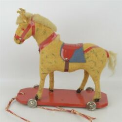 Hobby Horse Pull Toy Vintage 1950s Toy Western Germany 8 Long