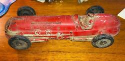 Antique Auburn Hard Rubber Red Toy Indy Race Car Made In Usa 7 - 10 Long