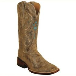 Ferrini Marble Brown Genuine Cowhide Women's Boots Size 6.5